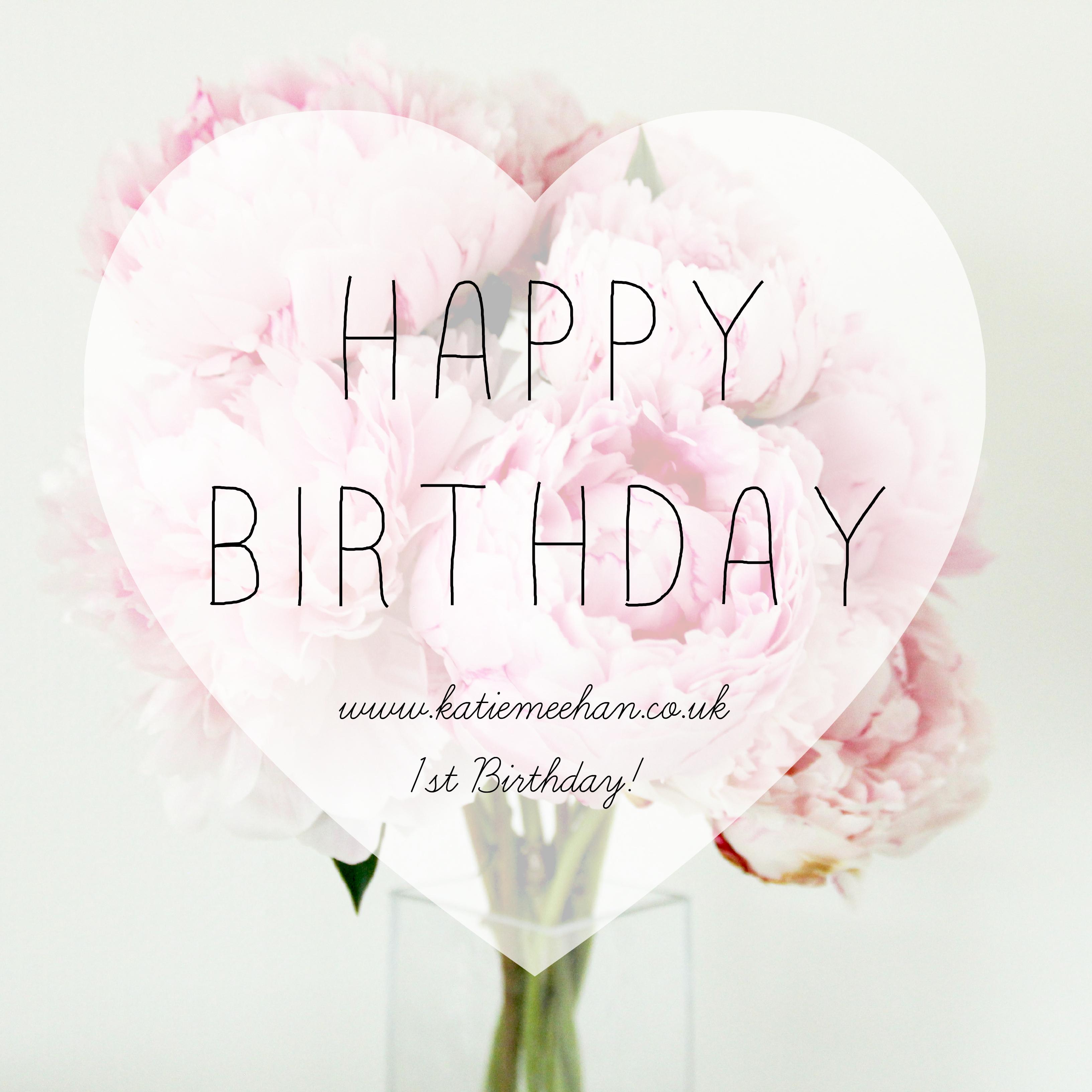 Happy 1st Blog Birthday!